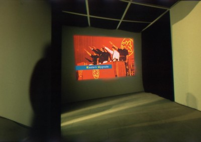Installation view of Eutopia in the Gallery NBK, Berlin, 2000