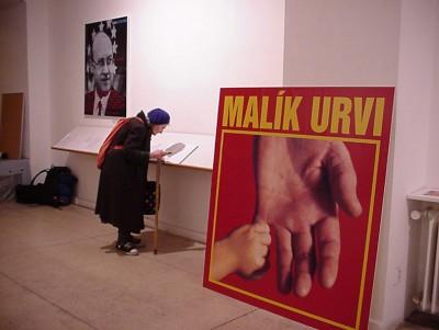 Václav Špála Gallery during the last day of the exhibition Malík Urvi / GEN
