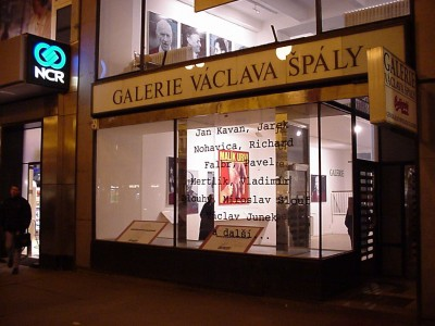 opposite: exterior view of the Vaclav Špála Gallery during the exhibition, 2000