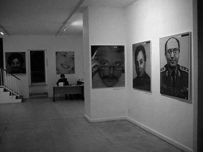 Opposite: Installation view, Václav Špála Gallery, 2000