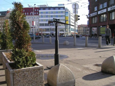 Public space installation view, Bratislava, 2004