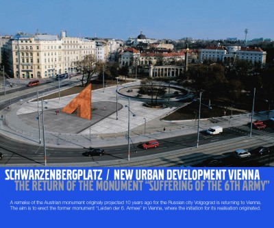 Official poster announcing the development intention in Vienna, 2004