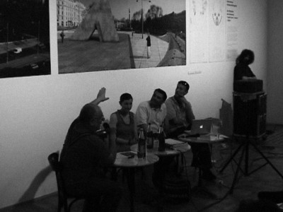 Public discussion in Künstlerhaus Vienna about the project, 2004