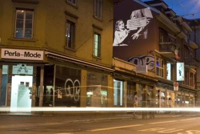 Projections, Street view, Gallery Perla Mode, Zurich, 2008