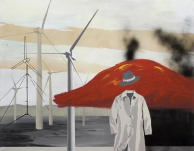 Hades, acrylic and spray-paint on canvas, 140x110 cm, 2008
