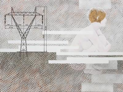 Nausicaa, acrylic and spray-paint on canvas, 120x90 cm, 2008