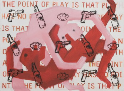The Point of Play, acrylic and spray-paint on canvas, 120x90 cm, 2008