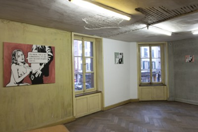 Projections, The Court Case, Installation view, Message Salon, 2009