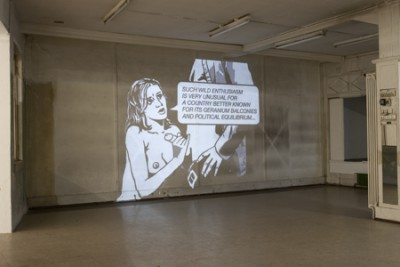 Projections, The Court Case, Installation view, Perla Mode, Zurich, 2009