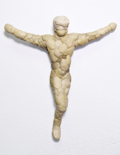 Chewed Christ, Chewing gum, aprox. 20 cm, 2011-2012