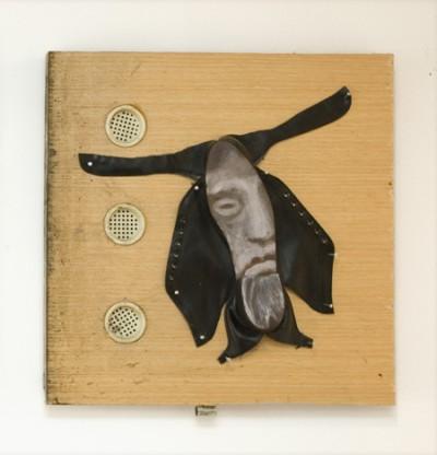St. Francis os Asisi, Asamblage and acrylic, 2009