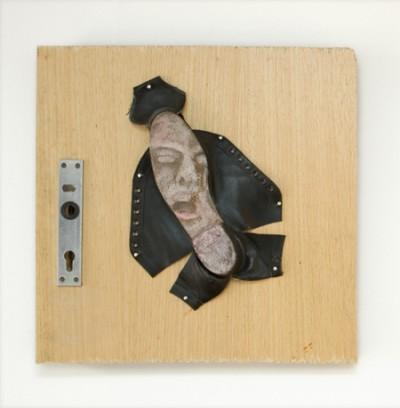 St. Imelda, Asamblage and acrylic, 2009