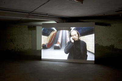 The Escalator, Part of the video installation The Telephone, Installation view in Perla Mode, Zurich, 2009