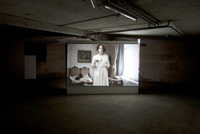 The Telephone, Video installation, Installation view in Perla Mode, Zurich, 2009